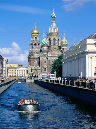 Griboedova Canal and Church of the Spilled Blood, St. Petersburg, Russia Photographic Print