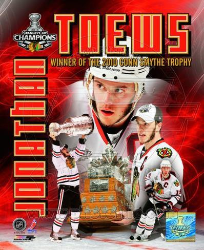 Jonathan Toews - 2010 Stanley Cup Conn Smythe Portriat Plus (#57) Photo