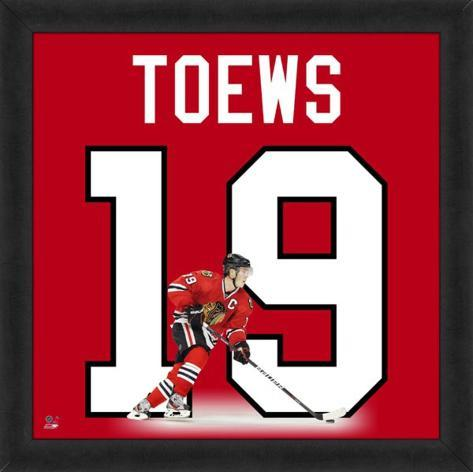 Jonathan Toews, Blackhawks photographic representation of the player's jersey Framed Memorabilia