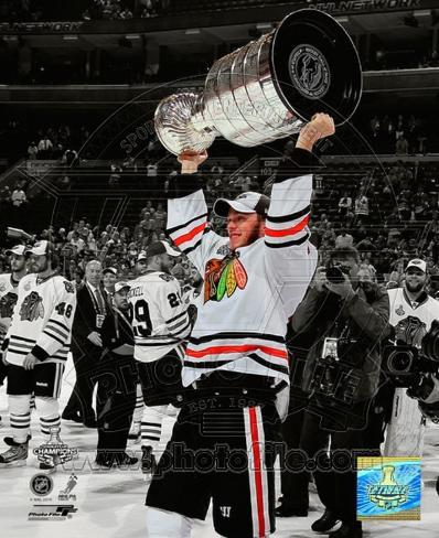 Jonathan Toews Game Six of the 2010 Stanley Cup Finals Spotlight #61 Photo