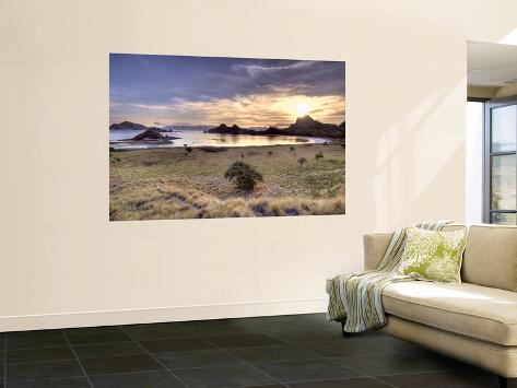 Sunset on One of the Park's Islands, Komodo National Park, Indonesia Wall Mural