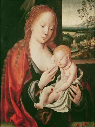Virgin and Sleeping Child Lámina giclée