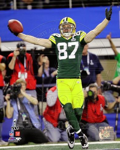Jordy Nelson Touchdown Celebration from Super Bowl XLV Photo