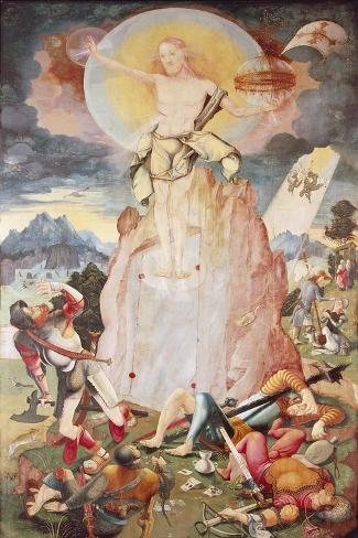 The Resurrection, Right Side Panel of Herrenberg Altarpiece, 1519 Lámina giclée
