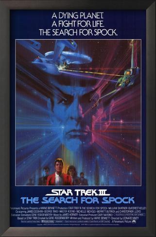Jornada nas Estrelas III: À Procura de Spock Impressão artística emoldurada