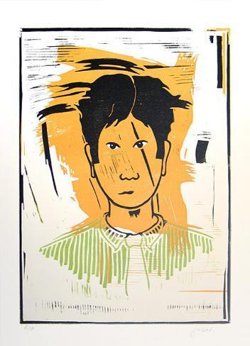 Portrait auf Gelb Limited Edition
