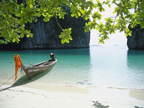 Beach on Ko Hong Island Photographic Print