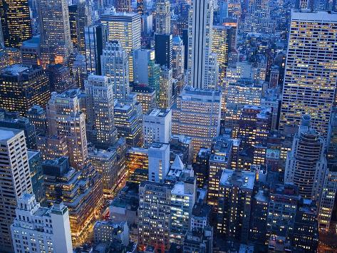 Midtown Manhattan at Dusk Photographic Print