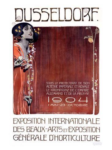 Exposition des Beaux Arts, Dusseldorf Giclee Print