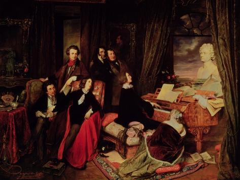 Liszt at the Piano, 1840 Giclee Print
