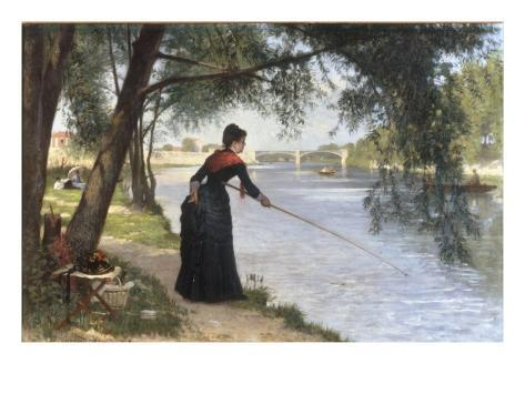 La Pecheuse, 1884 Lámina giclée