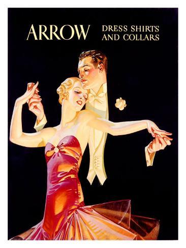 Arrow Dress Shirts and Collars Giclee Print