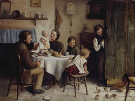 Crumbs from a Poor Man's Table, 1868 Giclee Print