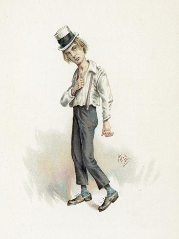 David Copperfield, Illustration from 'Character Sketches from Charles Dickens', C.1890 Stampa giclée