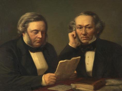 John Bright and Richard Cobden Giclee Print