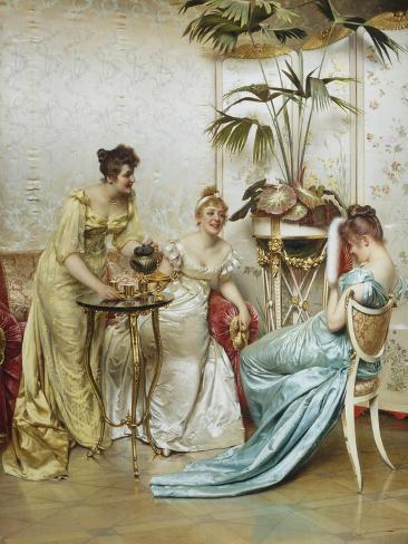 Tea Time Tales Giclee Print