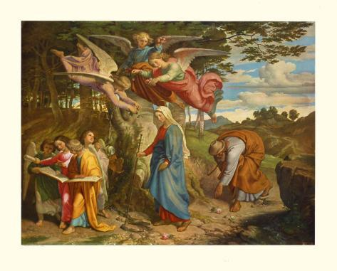 Virgin Crossing the Mountain, c.1841 Collectable Print