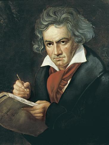 ludwig van beethoven composing the missa solemnis arte por