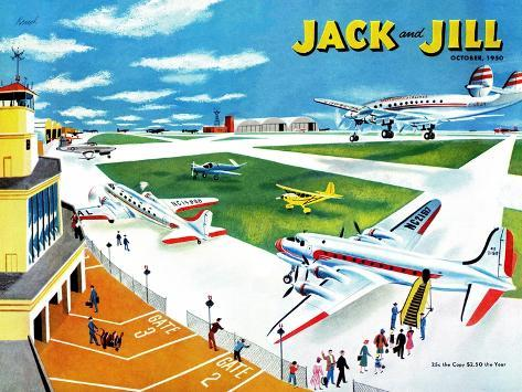 Airport - Jack and Jill, October 1950 Giclee Print