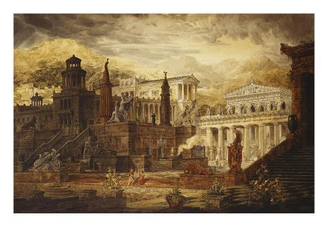 A Reconstruction of Sparta: the Persian Porch and Place of Consulatation of the Lacedemonians Giclee Print