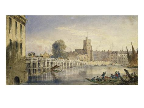 Putney Bridge and Church from near the Old Swan, Fulham Giclee Print