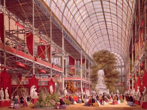 The Transept at the Great Industrial Exhibition of 1851 Giclee Print