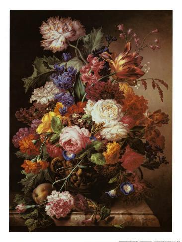 Grandmother's Bouquet I Art Print