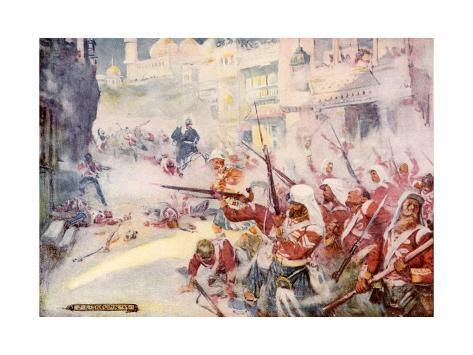 British Soldiers Were Seen Fighting their Way Through the Streets Stampa giclée