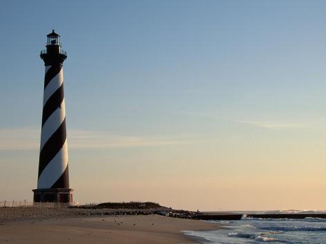 Cape Hatteras Lighthouse at Sunrise Photographic Print