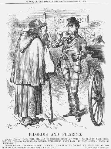 Pilgrims and Pilgrims, 1873 Lámina giclée