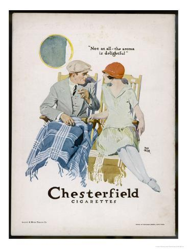 Chesterfield Cigarettes, Mind if I Smoke? Giclee Print