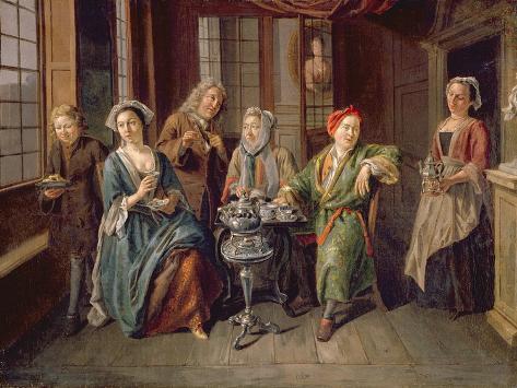 A Tea Party, C.1720 Giclee Print