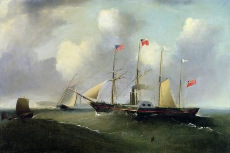 The 'Great Western' Off Portishead, 1838 Giclee Print