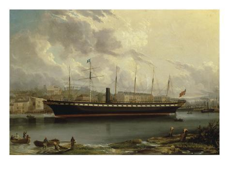 The SS 'Great Britain' leaving Cumberland Basin on her Maiden Voyage, 23rd January, 1845 Giclee Print