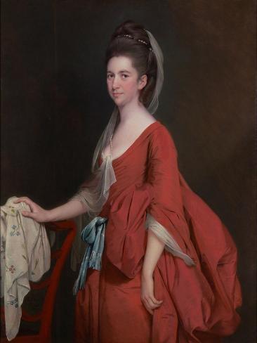 Portrait of Dorothy Beridge, Nèe Gladwin (D.1792) 1777 Impressão giclée