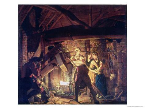 The Iron Forge, 1772 Giclee Print