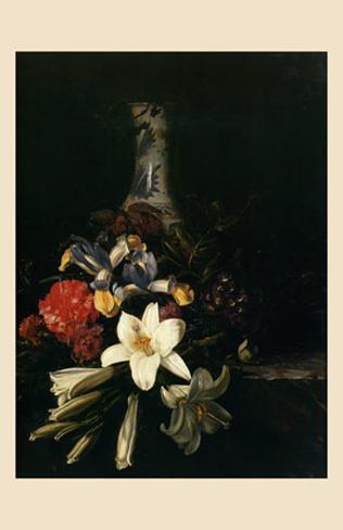 Ramo de Flor Devant un Florero de Chine, 1661 Lámina
