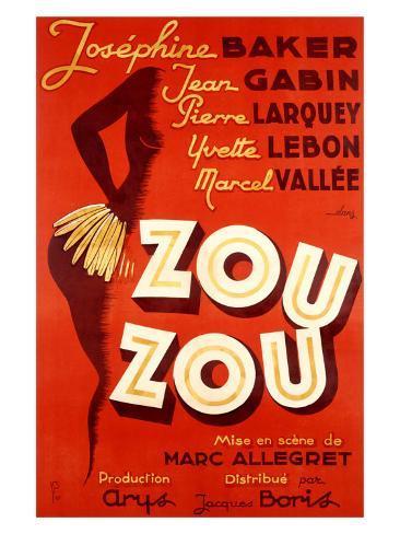 Josephine Baker, Zou Zou Stampa giclée