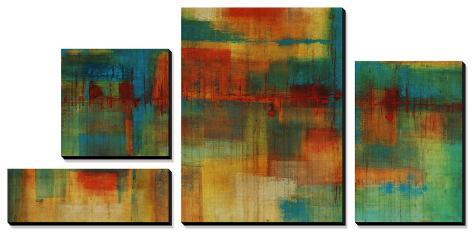 City Spectrum Canvas Art Set