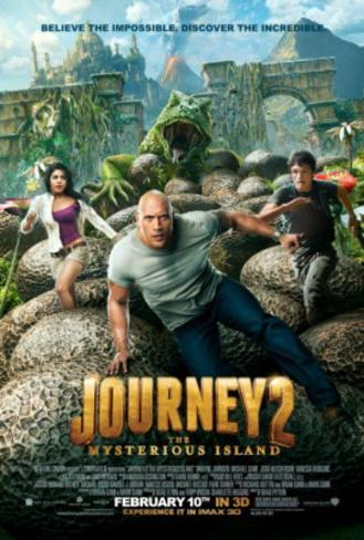 Journey 2 The Mysterious Island (Dwane Johnson, Vanessa Hudgens, Chris Hutcherson) Movie Poster Double-sided poster