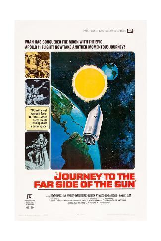 JOURNEY TO THE FAR SIDE OF THE SUN, US poster, 1969 Impressão artística