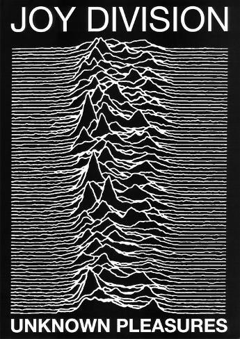 Joy Division punk Poster Unknown Pleasures Ian Curtis Póster