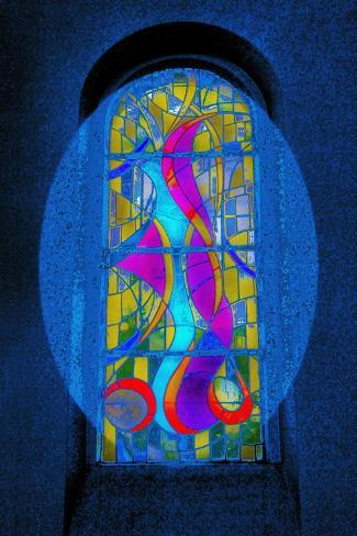 Blue Swirls, from the Series Eglise St Pierre D'Arene, 2015 Giclee Print