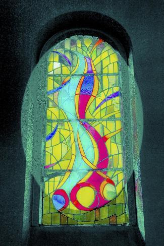Green Swirls, from the Series Eglise St Pierre D'Arene, 2015 Giclee Print
