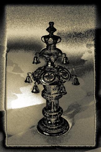 Silver Torah Handle, 2015 Giclee Print
