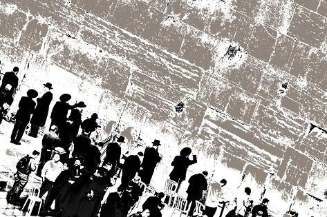 The Men's Side, from the Series, Tuesday at the Wailing Wall, 2014 Giclee Print