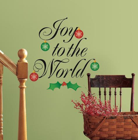 Joy to the World Peel & Stick Wall Decals Wall Decal