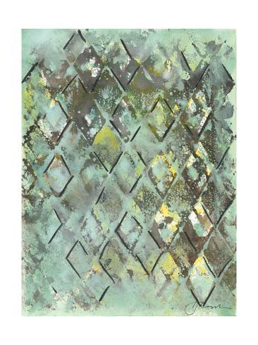 Lattice in Green I Art Print