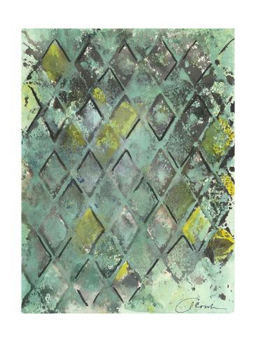 Lattice in Green II Art Print