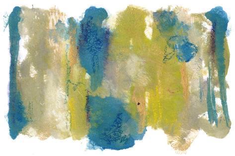 Teal & Scribbles II Art Print